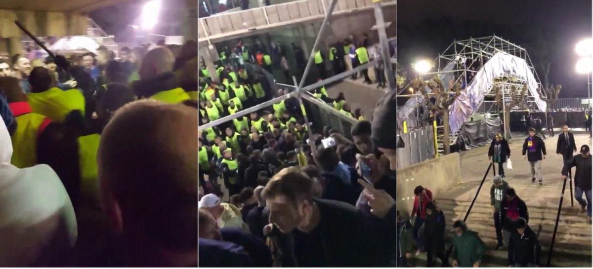 SRAMOTA U BARCELONI: Redari brutalno palicama napali Chelseajeve navijače