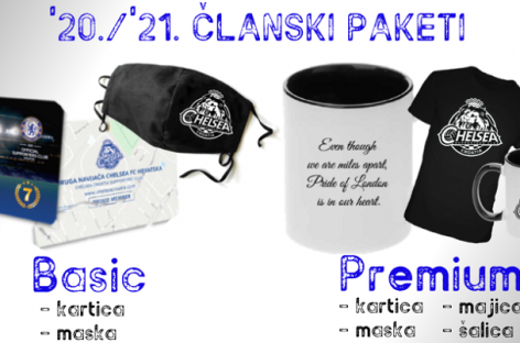 NOVO! Chelsea Croatia članski paketi '20./'21.